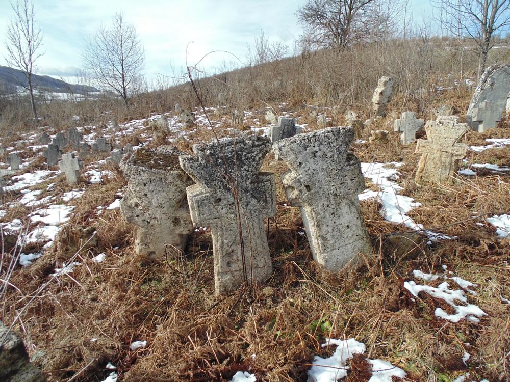 Моцоња гробље, споменици од сиге, (крај 18. - почетак 19. вијека)